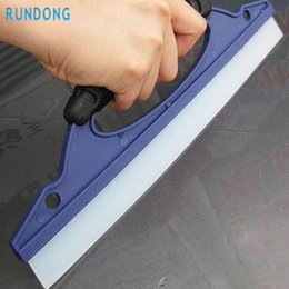 Wholesale Wholesale Car Window Scrapers - Wholesale- pretty Silicone Water Wiper Scraper Blade Squeegee Car Vehicle Windshield Window June6 car-styling