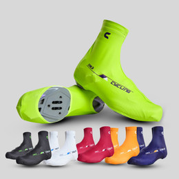 Wholesale cycling overshoe - New 6 Colors CHEJI Sports Outdoor Zippered Overshoes Cycling Bike Shoe Covers Windproof Bicycle Protective Shoes Sleeves