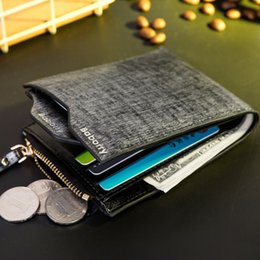 Wholesale Coin Purse Id Holder - Baborry New Scrub Pu Mens Wallet Carteira Black Blue Brown Portable Driver license Bit ID Credit Card Holder Coin branded Purse Wallets