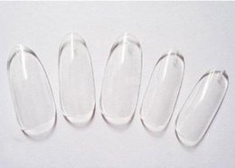 Wholesale Oval Tip Acrylic Nails - 500 Oval Nails Tips Round Fullwell Clear Color Tips False Nail Art Tips Wholesales