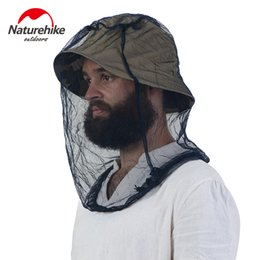 Wholesale Red Mosquitoes - Wholesale- *Brand New outdoor camping hiking Fishing Hat Anti Mosquito Mesh Cover Fisherman Hat Beekeeping Camping Mask Face Protect Caps