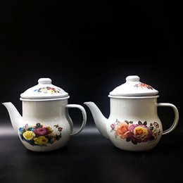 Wholesale Enamelled Pots - Best Enamel Kettle Porcelain Enamel Teapot Kettle water kettles teapot Enamel kitchen accessories tea pot drinkware water bottles