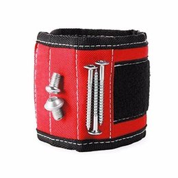 Wholesale Magnetic Wristband Tool - Wholesale- Wrist Support Screw Holder For Strong Magnetic Wristband Band Tool Bracelet Belt Support Kit Chuck Sports Protection 13.8''