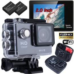 "Wholesale mini sports dv video camera - Wholesale- WIFI Waterproof Sports Video Camera Ultra HD 4K 1080P 12MP 2.0"" Action DV Camcorder Travel Kit Mini Cam micro Camera kamera"