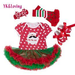 Wholesale 12 Months Girl Red Dress - Christmas Dress Baby Girls 2017 Xmas Style Girls Cotton Short Sleeve Red Dot Newborn Romper Tutu Skirt Dress Party Princess Jumpsuit Dresses