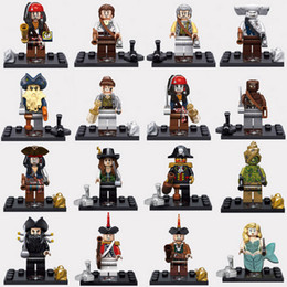 Wholesale 48pcs Mix Pirates of the Caribbean Minifig Pirate Figures Captain Jack Sparrow Figure Caribbean Pirates Mini Building Blocks Figures Toy