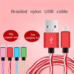 Wholesale Iphone Long Cable 3m - New 2m 3m Long Strong Braided Micro USB Cable Sync Charger Cable For Samsung Galaxy S5 S6 S7 Note4 And android phone