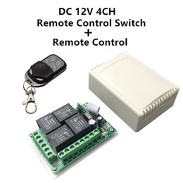 Wholesale Relay Switches - Wholesale-433Mhz Universal Wireless Remote Control Switch DC12V 4CH relay Receiver Module and RF Transmitter 433 Mhz Remote Controls