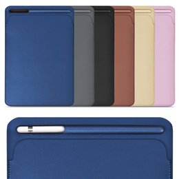 Wholesale ipad new leather case - For iPad Pro 9.7 10.5 inch, New 2017 Premium PU Leather Sleeve Case Pouch Bag Cover with Pencil Slot for Pro9.7 For Pro10.5