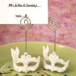 Máscara de resina Masquerade lugar titular do cartão para a festa de casamento decoração de mesa convidados do evento 50 pcs muito frete grátis de