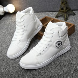 Wholesale Female Footwear - Men canvas shoes for 2017 spring and autumn female High-top pure black classic casual shoes footwear size44