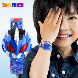 Wholesale Mens Clip Watches - The new children's toys cool electronic watches Mens super head table student child watch