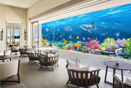 Wholesale Underwater Wallpaper Murals - Custom any size Panoramic Underwater World 3D Backdrop Wall mural 3d wallpaper 3d wall papers for tv backdrop