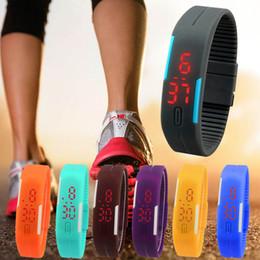 Wholesale Wrist Watch Digital Thin - Men Women Ultra Thin Sports Silicone Digital LED Wrist Watch Fashion Unisex Relogio Rubber Wristwatch Reloj Hombre