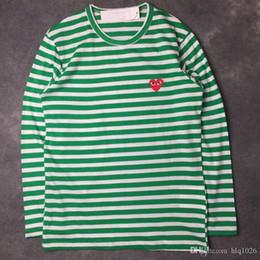 Wholesale Long Neck Fashion For Men - Luxury brand long sleeve hoodies for men women fashion o neck heart shape print t shirts for men new tide male t shirt free shipping