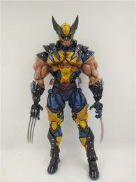 Wholesale Action Comics - LilyToyFirm Marvel Comic Super Hero X Force Wolverine Action Figure Justice League Weapon Iron Man Action Figure Model Collection Toy
