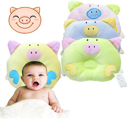 Wholesale Pig Baby - 1 PC 2016 New Year Hot Newborn Infant Soft Baby Infant Pillow Bedding Pig Shape Baby Shaping Anti-Apnea Cartoon Pillow H-2042