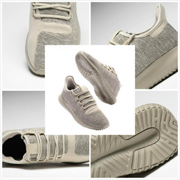 Wholesale Lace Boot Stockings - 2017 High Quality Sneaker Tubular Shadow Knit 350 Boost Sneakers Training Shoes tubular shadow knit Kanye West Boots 5 colors in stock