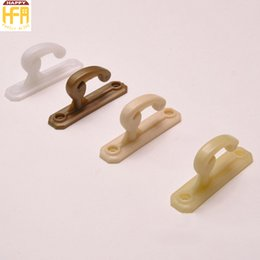 Wholesale Sky Blue Color Accessories - Curtain Tiebacks Plastic Hook Curtains And Blinds Accessories Curtain Holdbacks White Beige Brown Cream Color 80Pcs Set Wholesale