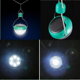 Wholesale Outdoor Hangings - Outdoor Solar Lamps Solar Camping Lantern 7LED Lighting Bulb Solar Hanging Lights Camping Lights Reading Light Waterproof Portable Lanterns