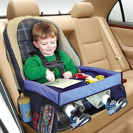 Wholesale Wholesale Kid Car Seats - Wholesale- High Quality Waterproof Table Car Seat Tray Storage Kids Toys Infant Stroller Holder For Children Kids Baby Rattles DW878793