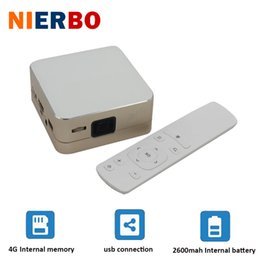 Wholesale home theatre projectors led - Wholesale-Mini 1000 Lumens Projectors Pocket LED Full HD 3D Projector Beamer theatre cinema with Android WiFi Bluetooth