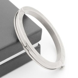 Wholesale Stainless Steel Jewelry Cz Bracelets - CZ Zircon 316L Titanium Stainless Steel Love Bracelets & Bangles stainless steel jewelry wholesale