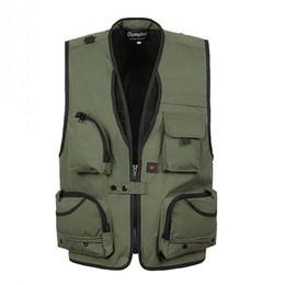 Wholesale Plus Equipment - Wholesale- Mens Christmas Equipment Cardigan Vests Waistcoat Plus Size XXXL 5XL Outerwear Clothing Photographer Sleeveless Jacket