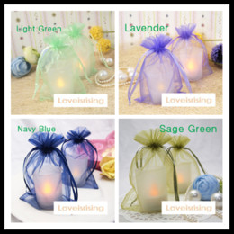 Wholesale Wholesale Sheer Gift Bags - 17 colors Pick-- 50pcs lot 10X15cm Sheer Organza Drawstring Jewelry Pouches Party Wedding Favor Packaging Candy bags Gift Bags