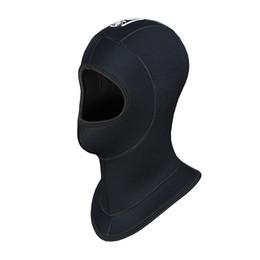 Wholesale Wetsuit Swimming Man - Wholesale- Genuine Slinx Brand 5MM Thickened Neoprene Scuba Dive Caps Hood Hat Keep Warm Cold Proof Winter Swim Wetsuit Wet Suit Equipment