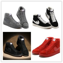 Wholesale Red Blazers Shoes - 2017 Cheap Sale BLAZER LOW PRM VNTG Mens and Womens higt casual Shoes winter warm Sports Training Sneakers shoes Size 36-44 Free Shipping