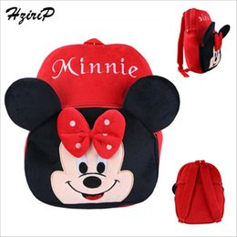 Wholesale Hello Bunny - Wholesale-Small Big Plush Backpack Cute Cartoon Hello Kitty Duck Owl Bunny Mickey Mouse School Backpack Girls Boys Bags Backpack Toy