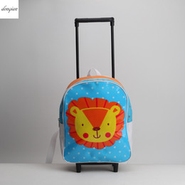Wholesale Travel Trolley Wheels Luggage Bag - 2017 Arrival Fashion Zipper Luggage Travel rolling Bags Shoulder Trolley Backpack Caster Removable Ultra-light on wheels