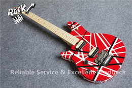 Wholesale Edward Van Halen - Edward Van Halen Wolf Music Man Ernie Ball Axis Red Black Stripe Red Electric Guitar Tremolo Bridge Maple Neck Abalone Dot Fingerbaord Inlay