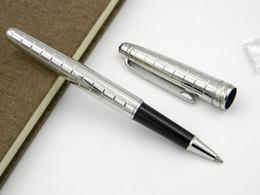 Pluma de escritura agradable online-163 nuevos oficios una línea de acero inoxidable con bolígrafo de metal M M