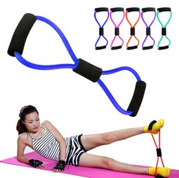Wholesale Wholesale Pulls - Sports 8 Shaped Pull Training Resistance Bands Rope Tube Workout Exercise Yoga Sports Body Equipment Tool Gym