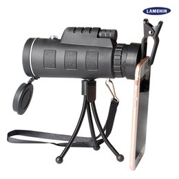 Wholesale Mini Video Tripod - 40x60 Mini Tripod Telescope Night Vision Monocular Telescopie Phone Camera Video With Compass Tripod Phone Clip