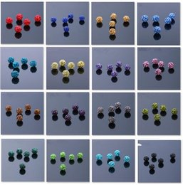 Wholesale Polymer Clay Bracelets - Wholesale - New fashion polymer clay Ball Crystal Shamballa Bead Bracelet Necklace Beads Bracelet DIY accessories 2501