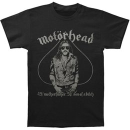 Wholesale Different Shirt - Motorhead Men's 4951 Vintage Vintage T-shirt Black Original Tops Novelty T Shirt Short Sleeve Different Colours High Quality