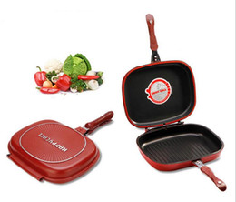 Wholesale Double Side Frying Pan - Wholesale Happycall Happy Call 28cm Fry Pan Non-stick Fryer Pan Double Side Grill Fry Pan