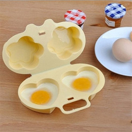 home steamers Promo Codes - Home Kitchen Microwave Oven Heart&Flowers Shape Egg Steamer Cooking Mold Egg Poacher Kitchen gadgets Fried Egg tool