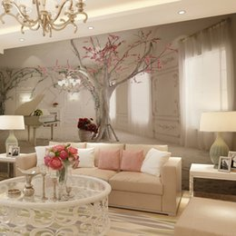 Wholesale Wood Space - Wholesale-Custom 3d mural wall paper TV backdrop sofa three-dimensional space to expand 3d photo wallpaper for walls 3 d contact paper