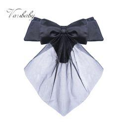 Wholesale T Shaped Underwear - Cute Lure G-string sexy girl black satin big bow T - shaped underwear