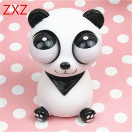 Wholesale Pop Eyes Animal Toy - ZXZ 2017 Hot Squeeze Pop Out Eyes Doll Antistress Cartoon Animal Stress Relief Panda Model Decompression toy Shocking Prank Gift
