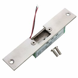 Wholesale Fail Safe - Wholesale- Stainless Door 12V DC Fail Safe NO Narrow-type Door Electric Strike Lock For Access Control Power Locks Security Safely