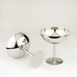 Wholesale Martini Cocktail Glasses - Mushroom Shape Stainless Steel Bar Glasses Cocktail Martini Whiskey Wine Cup For Restaurant Bar Home Use Kitchen Accessories