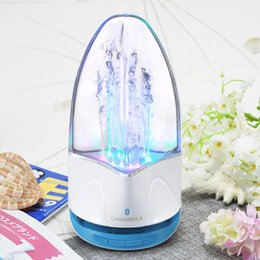 Wholesale Dancing Mini Music Speaker - wireless Bluetooth Water Dancing Speaker Subwoofer LED light Music Speaker With TF Card Stereo Bass For Iphone Android phone PC