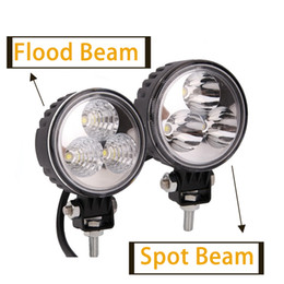 Wholesale 9w Led Work Lamp - 3 LED 9W truck offroad Working Light Spot lights Car Dome Working Lamp For offroad Car tractor Truck Boat free shipping