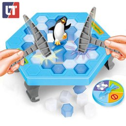 Wholesale Practical Joke Games - Wholesale- Penguin Trap Funny Game Interactive on Ice Breaking Table Educational Science Magwisdom Practical Jokes Antistress Baby Juguetes
