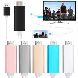 Cable hdmi smartphone online-Acoplar a HDMI HDTV TV Adaptador Cable USB 1080P para teléfono inteligente Cable HDMI con caja minorista